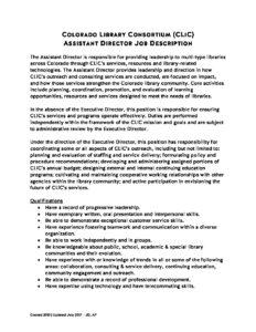 ... Assistant Director Job Description July 2017 Pdf 232x300 ...